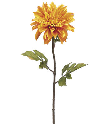 "Bloom Room 29"" Dahlia Stem-Yellow"