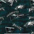 Philadelphia Eagles Fleece Fabric -Retro