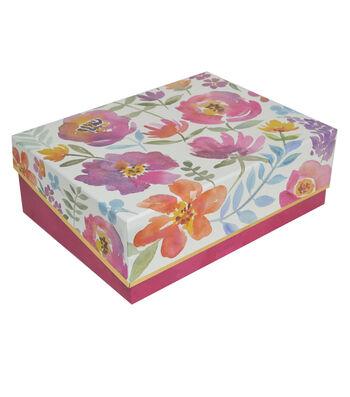 Organizing Essentials Large Storage Box-Tossed Floral
