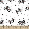 Disney Mickey Mouse Cotton Fabric -Mickey & Minnie Dancing