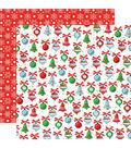 Santa\u0027s Workshop Double-Sided Cardstock 12\u0022X12\u0022-Christmas Trimmings