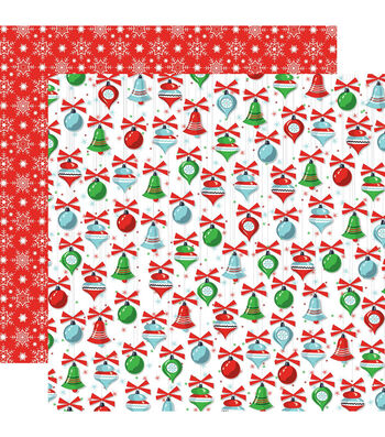"Santa's Workshop Double-Sided Cardstock 12""X12""-Christmas Trimmings"