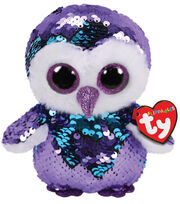 Ty Inc. Flippables Regular Sequin Moonlight Owl-Purple, , hi-res