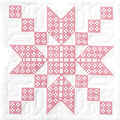 Jack Dempsey Stamped White Quilt Blocks Stepping Stone