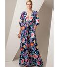 Vogue Pattern V9253 Misses\u0027 Deep-V Kimono-Style Dresses-Size 16-26