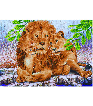 Diamond Dotz Diamond Facet Art Kit-Lion Family