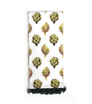Simply Autumn 16''x26'' Towel with Trim-Artichokes