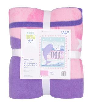 No Sew Fleece Throw Kit-Be Unique