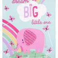 No Sew Fleece Throw-Pink Dream Big Little One