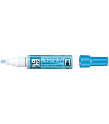 Zig 2-Way Glue Pen-Chisel Tip 12 Pack