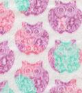 Anti-Pill Fleece Fabric 59\u0022-Stamped Pretty Owls