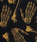 Halloween Cotton Fabric -Skeleton Bones