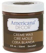 DecoArt Americana Decor Creme Wax 8oz-Deep Brown, , hi-res