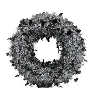 Maker's Halloween Bat Tinsel Wreath
