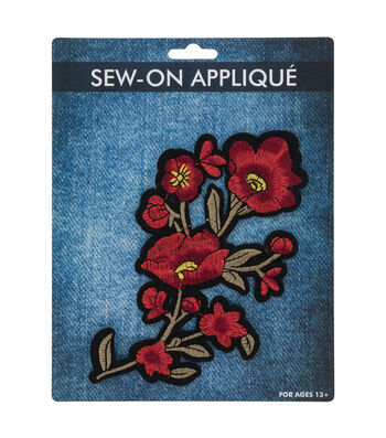 Sew-on Applique-Red Poppy