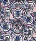 Modern Cotton Fabric 43\u0027\u0027-Galaxy Circles on Mauve