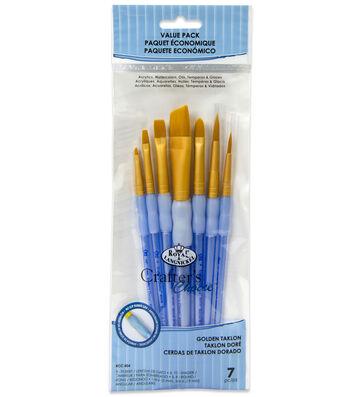 Royal & Langnickel Variety Brush Set 7pk-Golden Taklon