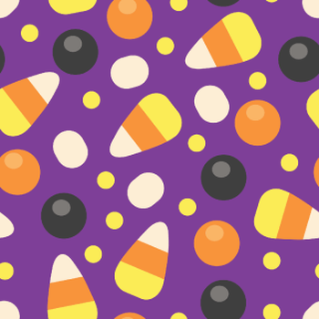 Candy Corn Purple Halloween