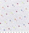 Nursery Flannel Fabric 42\u0027\u0027-Alphabet