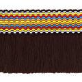 Simplicity Jacquard Fringe Trim 2.13\u0027\u0027-Tri-Color Brown