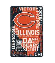 Chicago Bears Wordage Sign, , hi-res