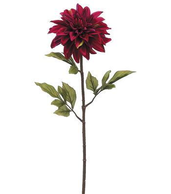 Bloom Room 29'' Dahlia Stem-Burgundy