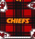 Kansas City Chiefs Fleece Fabric -Plaid