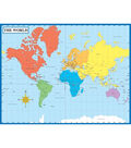 Carson-Dellosa Write-on/Wipe-off Map of the World Chart 6pk