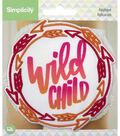 Simplicity Large Iron-on Applique-Pink & Orange Ombre Wild Child