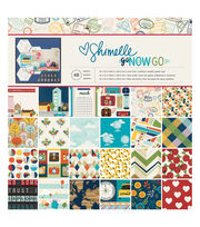 American Crafts Shimelle Go Now Go Pack of 48 12''x12'' Paper Pad, , hi-res