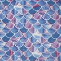 Anti-Pill Plush Fleece Fabric-Glitter Mermaid Scales
