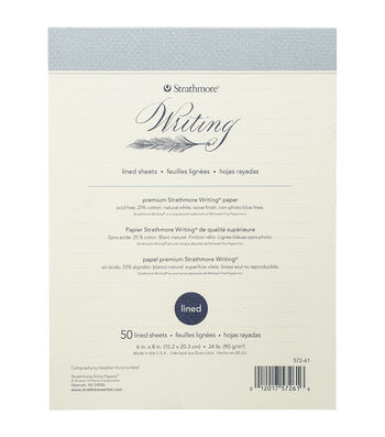 """Strathmore 50pcs 6""""x8"""" Writing Pad Lined-Natural White"""