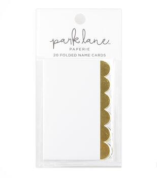 Park Lane 20 pk Folded Name Cards-Gold