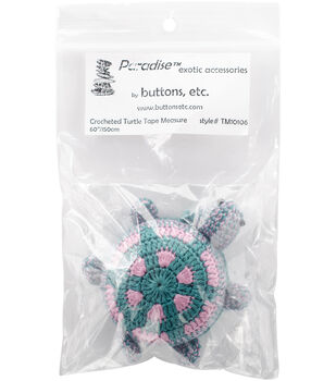Paradise Exotic Crocheted Turtle Tape Measure