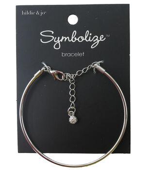 hildie & jo Symbolize 7'' Silver Bangle Bracelet