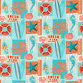 Novelty Cotton Fabric-Beach Life Patch