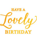 Ultimate Crafts Classic Sentiments Hotfoil Stamp-Lovely Birthday