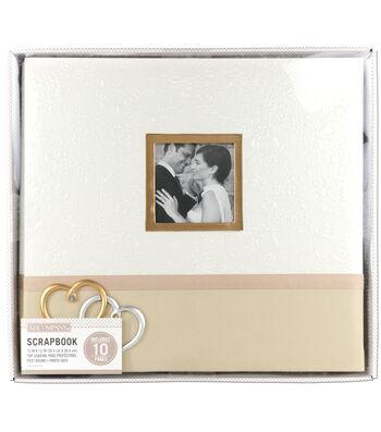 K&Company 12''x12'' Boxed Scrapbook-Wedding Hearts