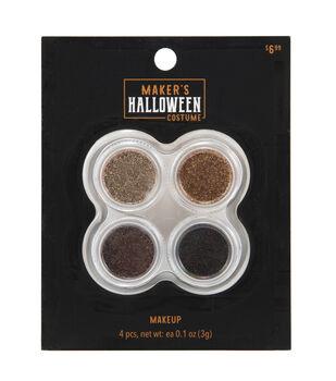Maker's Halloween Costume Cosmetic Glitter Makeup Set-Earthtones