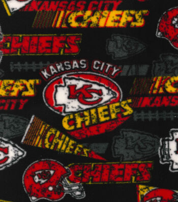 Kansas City Chiefs Fleece Fabric -Retro