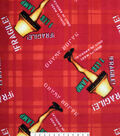 Christmas A Christmas Story Fleece Fabric-Fragile