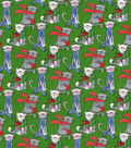 Christmas Cotton Fabric-Cats with Scarves