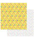 Photoplay Paper Those Summer Days 12\u0027\u0027x12\u0027\u0027 Cardstock-Chilly Pops