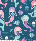 No Sew Fleece Throw 48\u0022-Mermaid Fun