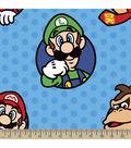 Nintendo Super Mario Fleece Fabric 59\u0022-Bubbles