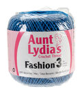 Aunt Lydia\u0027s Fashion Crochet Thread Size 3-Blue Hawaii Multipack of 12