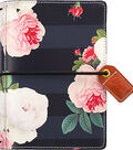 Webster\u0027s Pages Color Crush Pocket Traveler\u0027s Planner-Black Floral