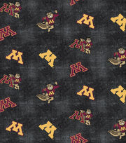 "University of Minnesota Gophers Flannel Fabric 42""-Distressed Logo, , hi-res"