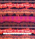 Stretch Chiffon Fabric -Multi Boho Stripe