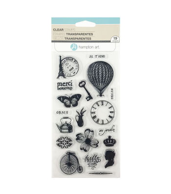 Clear Stamps-Parisian Icons